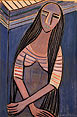 Femme aux cheveux longs, I [Woman with Long Hair I] by Wilfredo        Lam